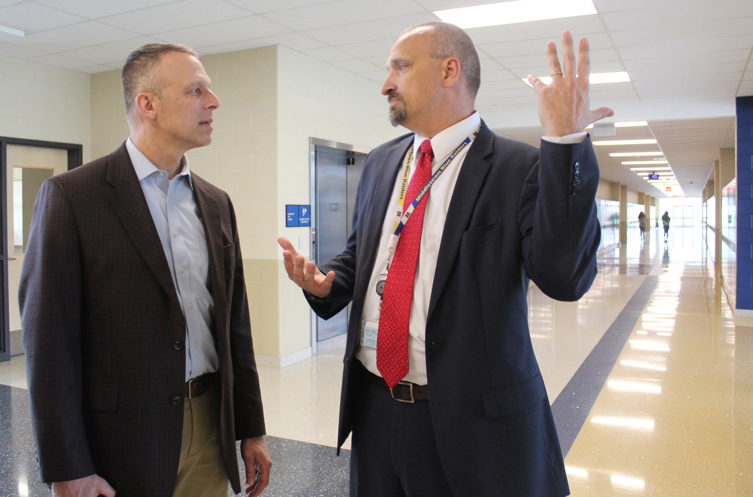 Congressman Scott Perry went on a tour of MAHS with Principal Mike Carnes on May 3.