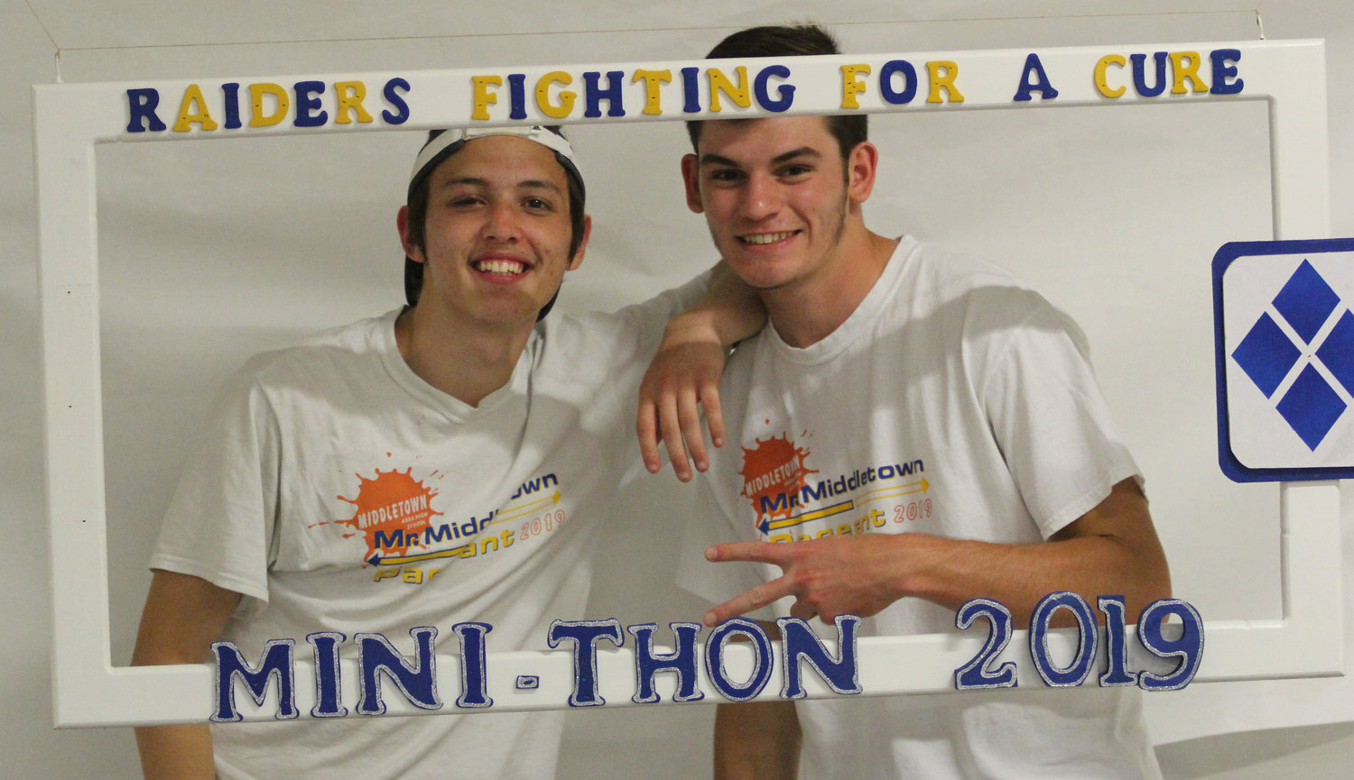 Camden Shetter and Scott Ash take part in Middletown Area High School's Mini-THON on May 3.
