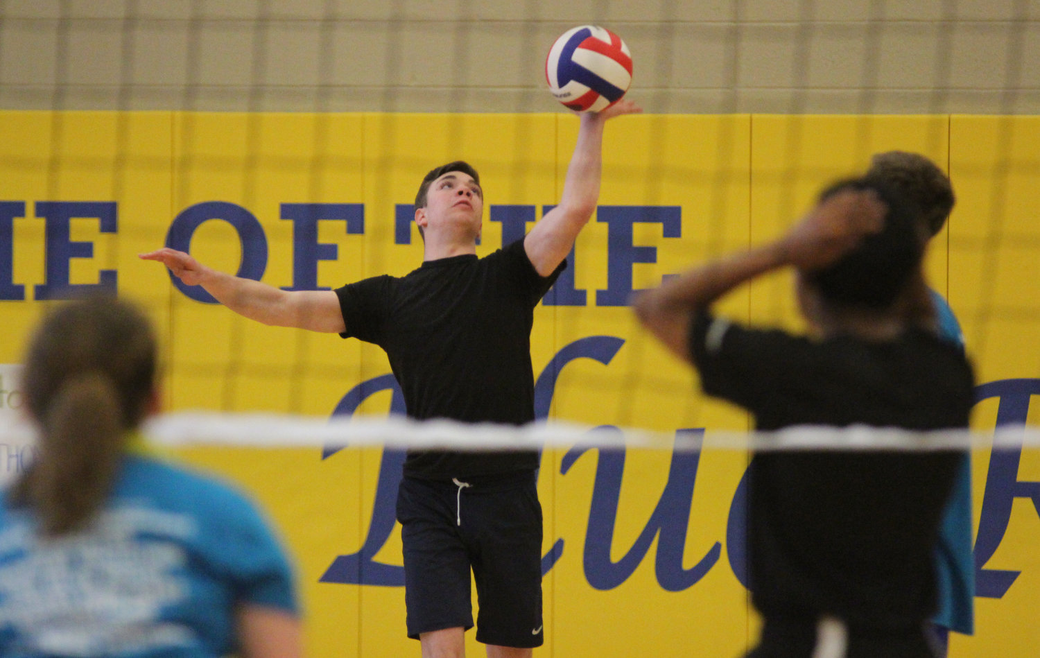 Jessie Van Eik plays volleyball at Middletown Area High School's Mini-THON on May 3.