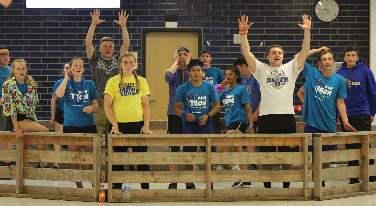 Gaga ball players ask for the ball back during Middletown Area High School's Mini-THON on May 3.