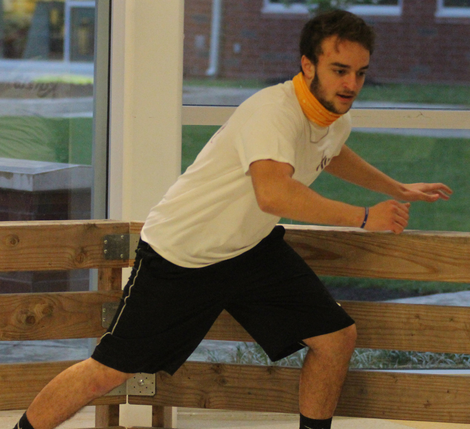 Case Woodley plays gaga ball at Middletown Area High School's Mini-THON on May 3.