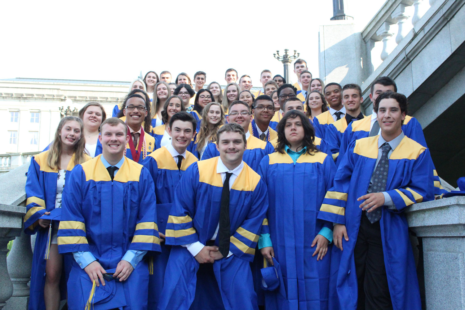 MAHS seniors gathered for pictures before graduation on June 4.