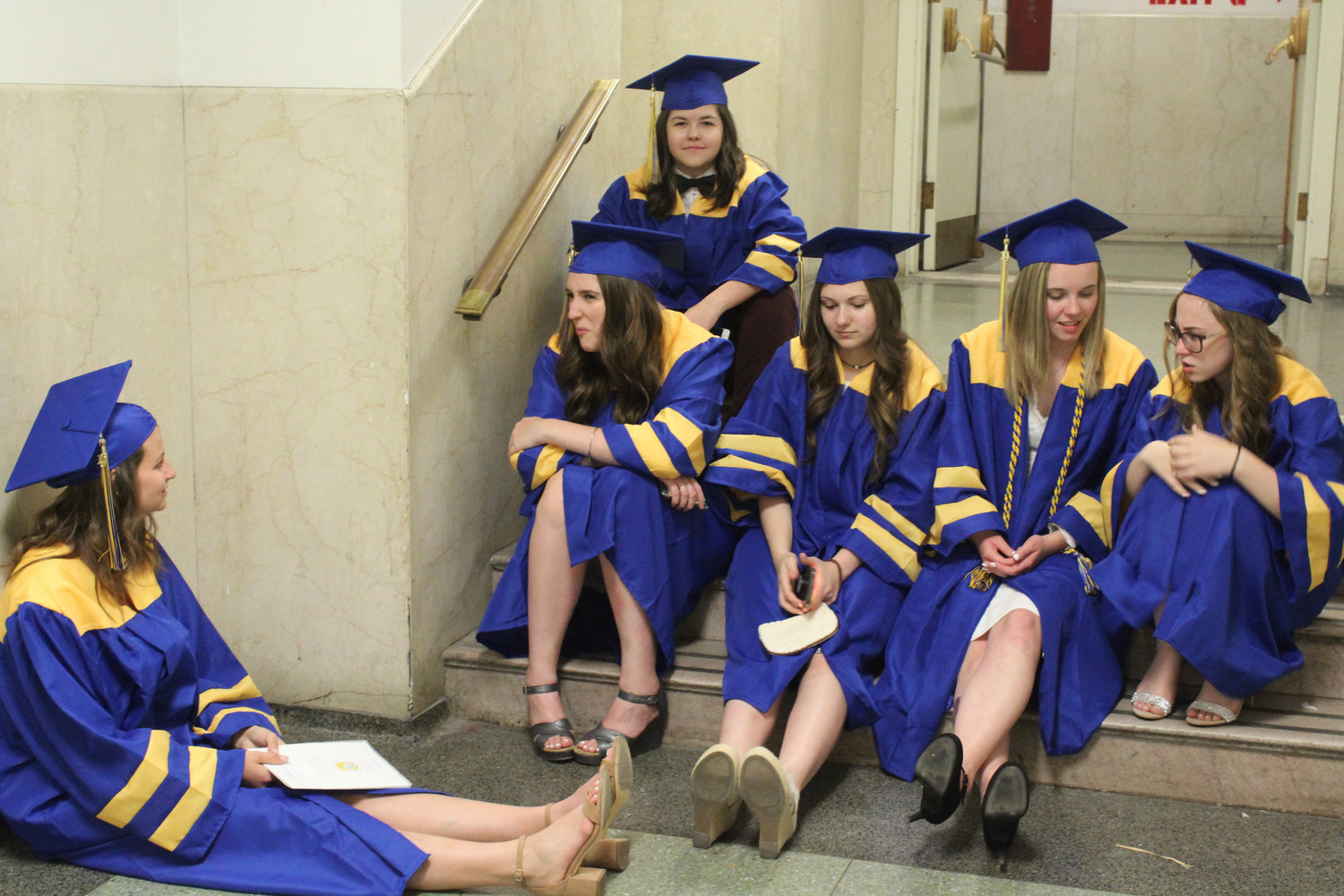Seniors rest before MAHS graduation June 4.