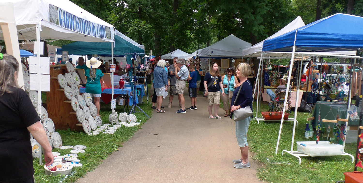 Patrons at the Middletown Area Historical Society's Arts & Crafts Fair could chose to peruse around 100 vendors at Hoffer Park on June 8.