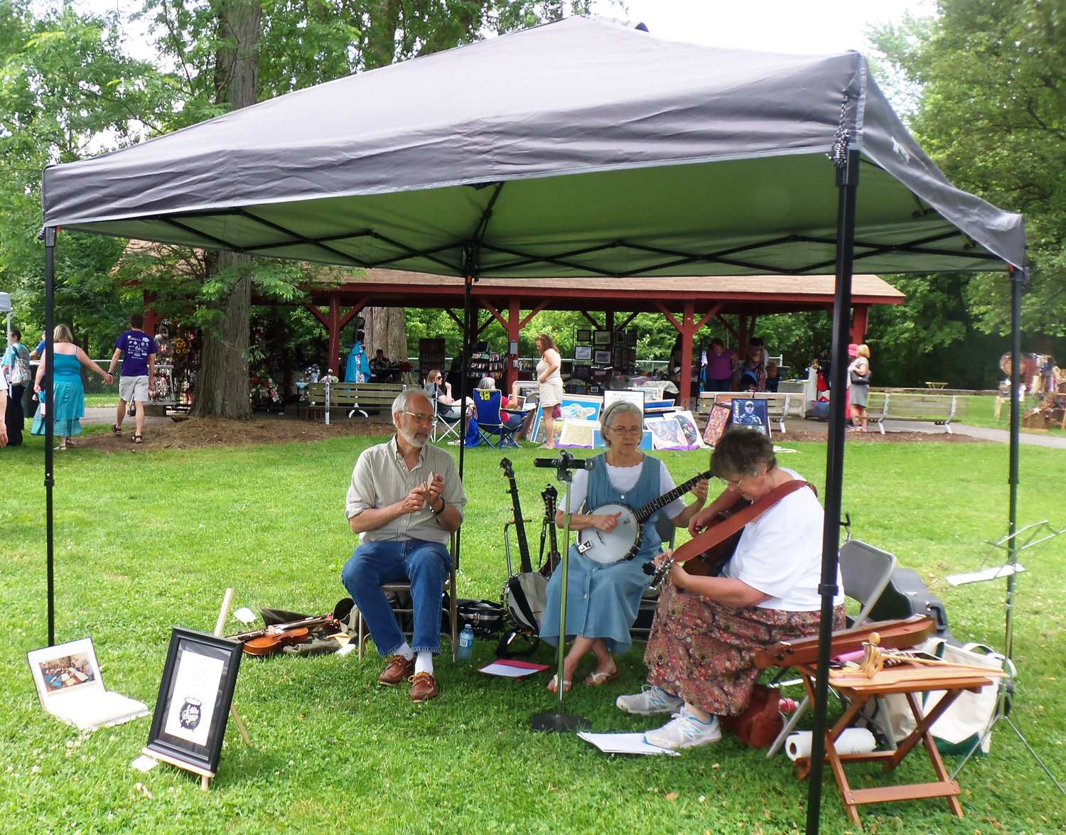 The musical group Stone Cold Soup gave an 11 a.m. performance at the Middletown Area Historical Society's Arts & Crafts Fair on June 8 at Hoffer Park.