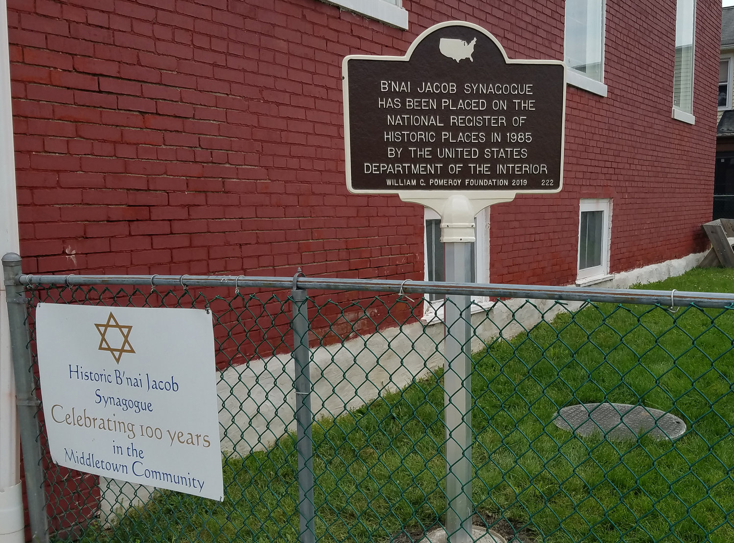 B'nai Jacob Synagogue at Nissley and Water streets in Middletown was awarded a historical marker designed by Sewah Studios in Ohio.