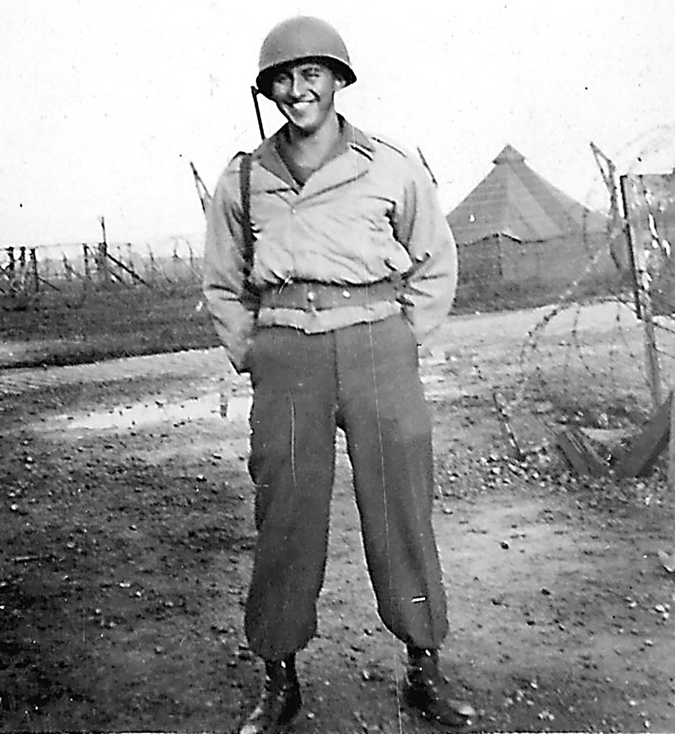 Mark Paradise poses for a picture sometime after D-Day while serving in Europe.
