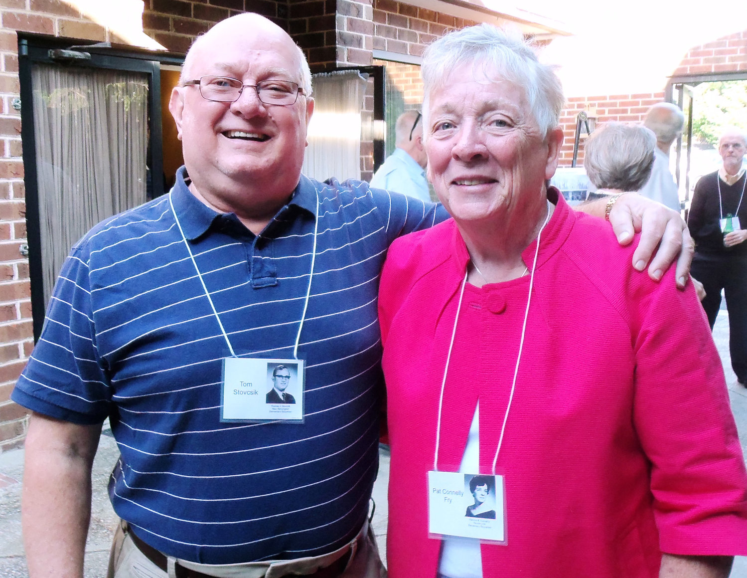 PSU Capitol Campus 1969 alumni Tom Stovicek and Pat Fry share memories at their 50th-year reunion held June 22 at the Sheraton Hershey Harrisburg in Swatara Township.