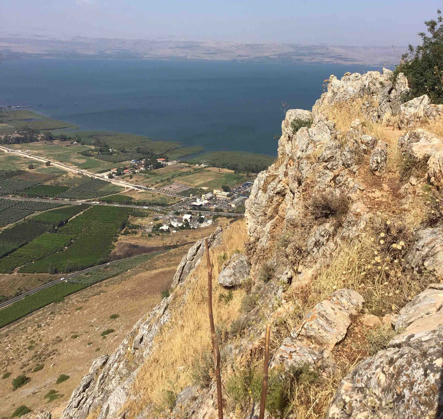 This view is from Mount Ariel in the Sea of Galilee region.