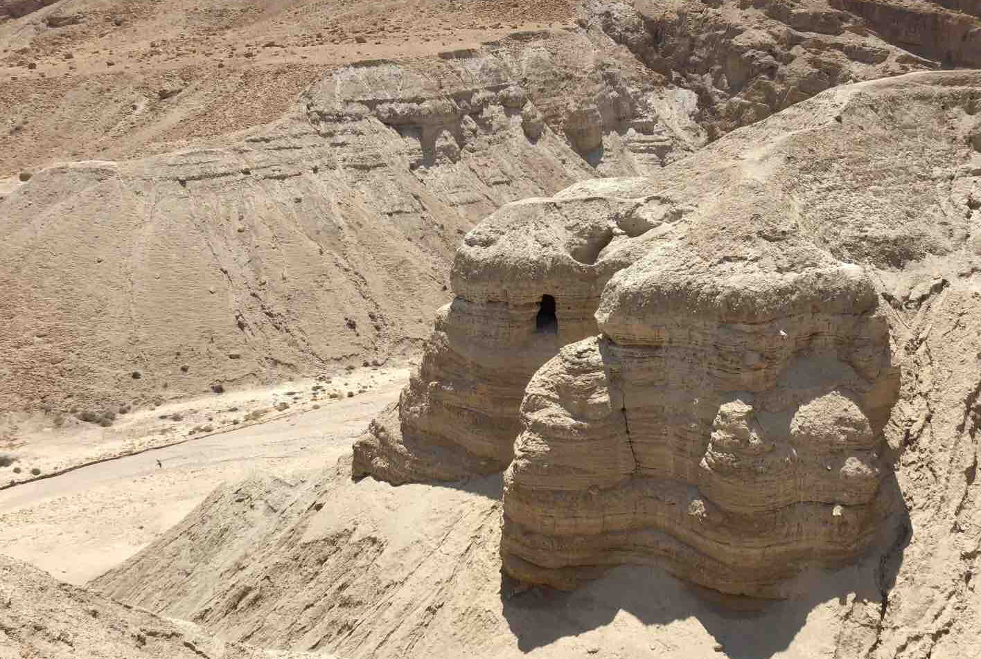 One of the Dead Sea Scroll caves.