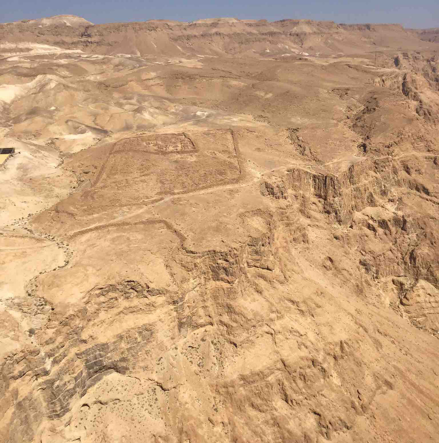 Desolate land surround Masada.