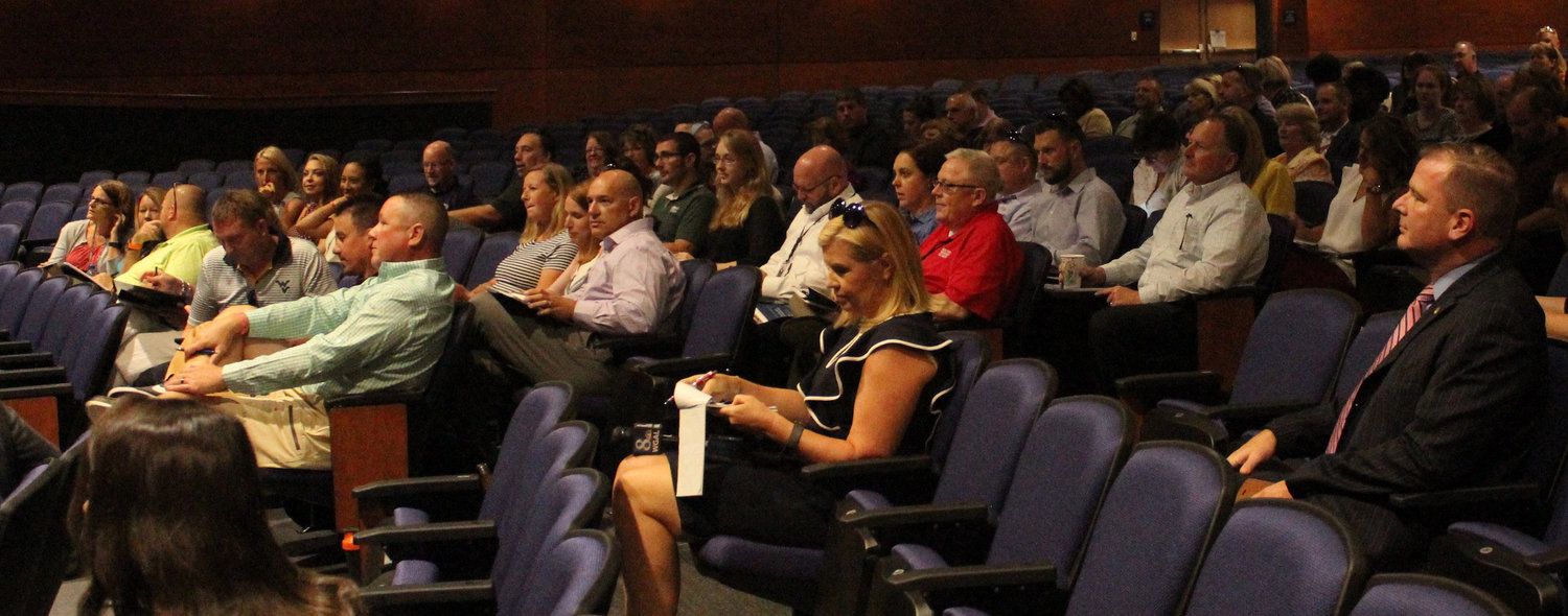 Educators, law enforcement officials, and mental health and public safety personnel gathered at Middletown Area High School on Aug. 6 for a four-hour training on threat assessment and the ptrrevention of targeted school violence.