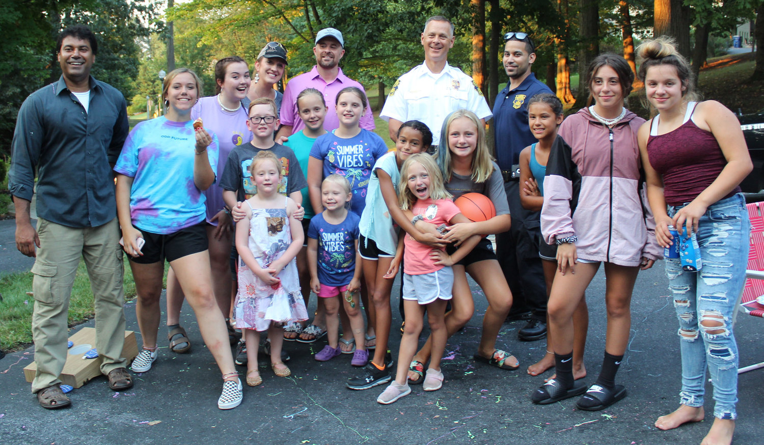 Neighbors on Timber Lane gathered for a block party during National Night Out in Lower Swatara on Aug. 6.