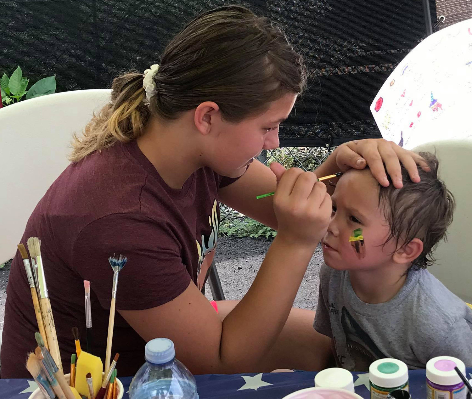 Face painting was one of many activities available to children at the first Freedom Community Festival held by the Middletown VFW Post No. 1620 Auxiliary on Aug. 17.