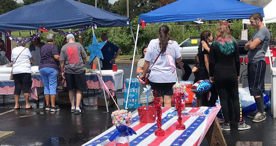 Although the first Freedom Community Festival held by Middletown VFW Post No. 1620 Auxilary was struck by heavy downpours during its first hour on Aug. 17, patrons soon returned with the sun.