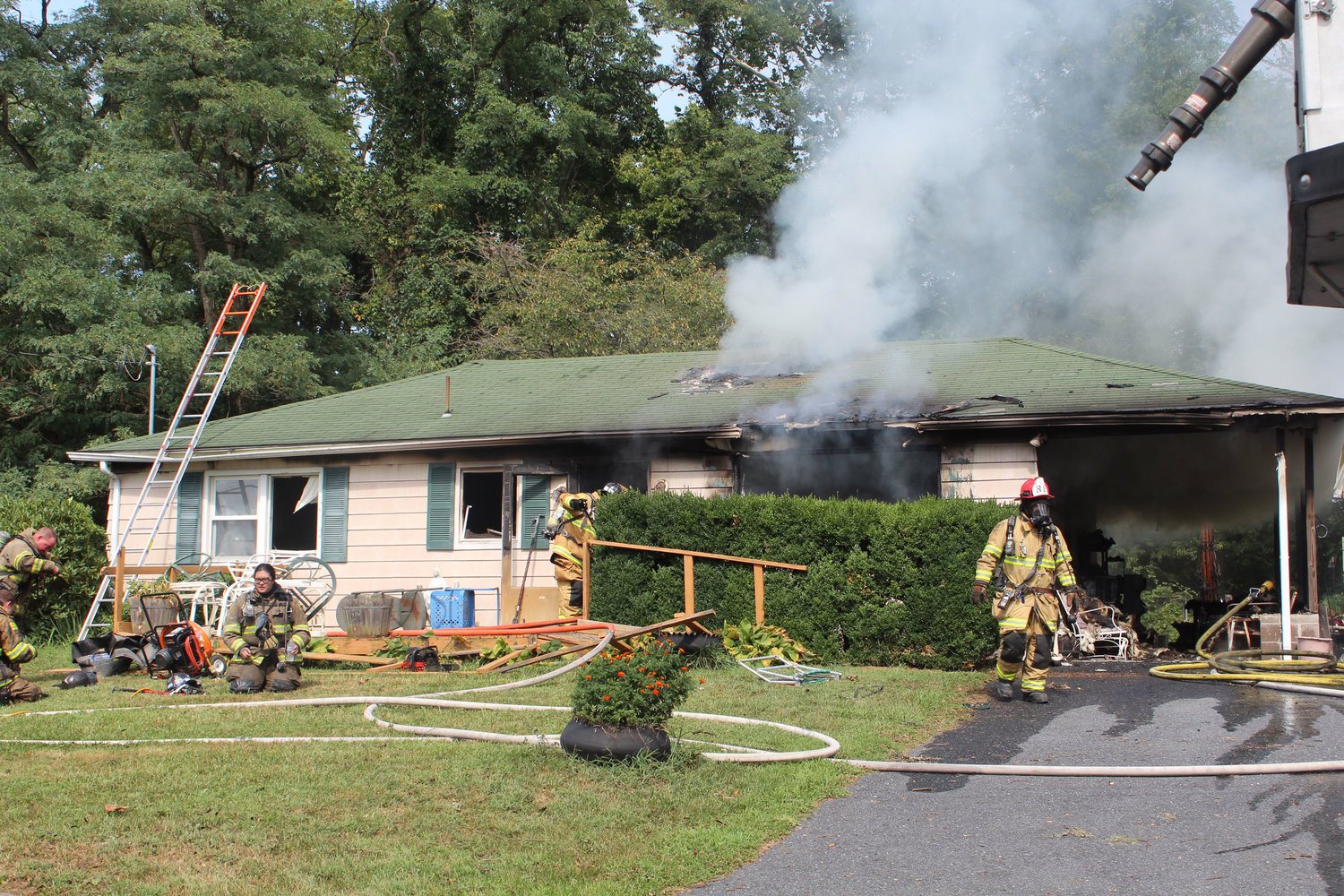 Firefighters responded to a fire on the 1800 block of Water Street this afternoon.