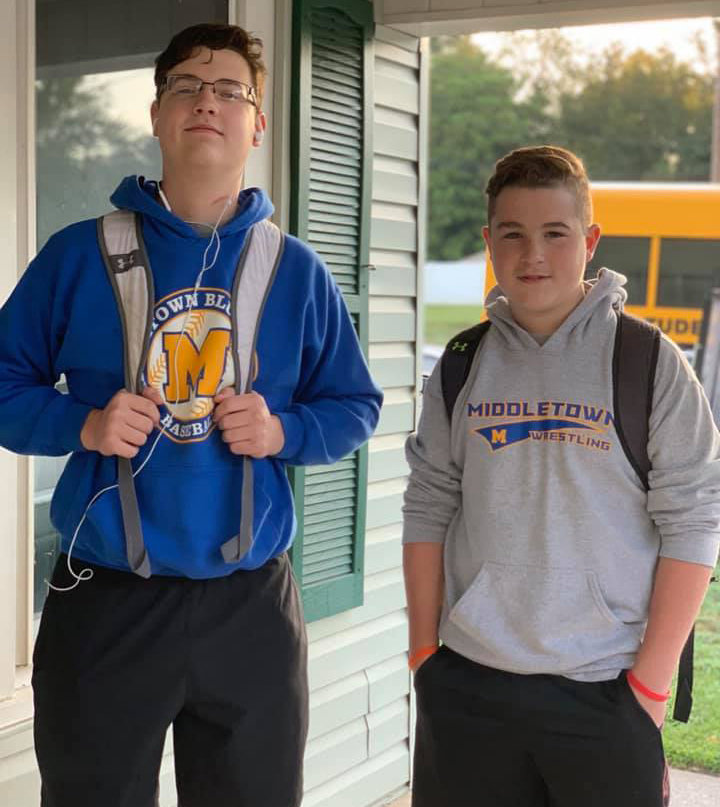 Jayden Benner, junior, Middletown Area High School, and Logan Benner, seventh grade, Middletown Area Middle School