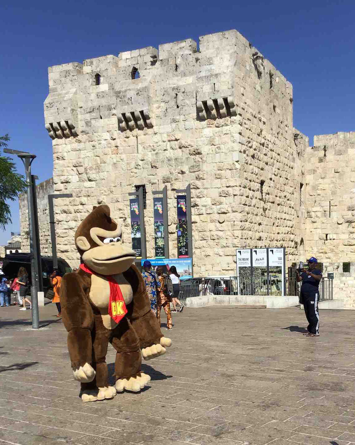 Donkey Kong near Jaffa Gate in Old City.