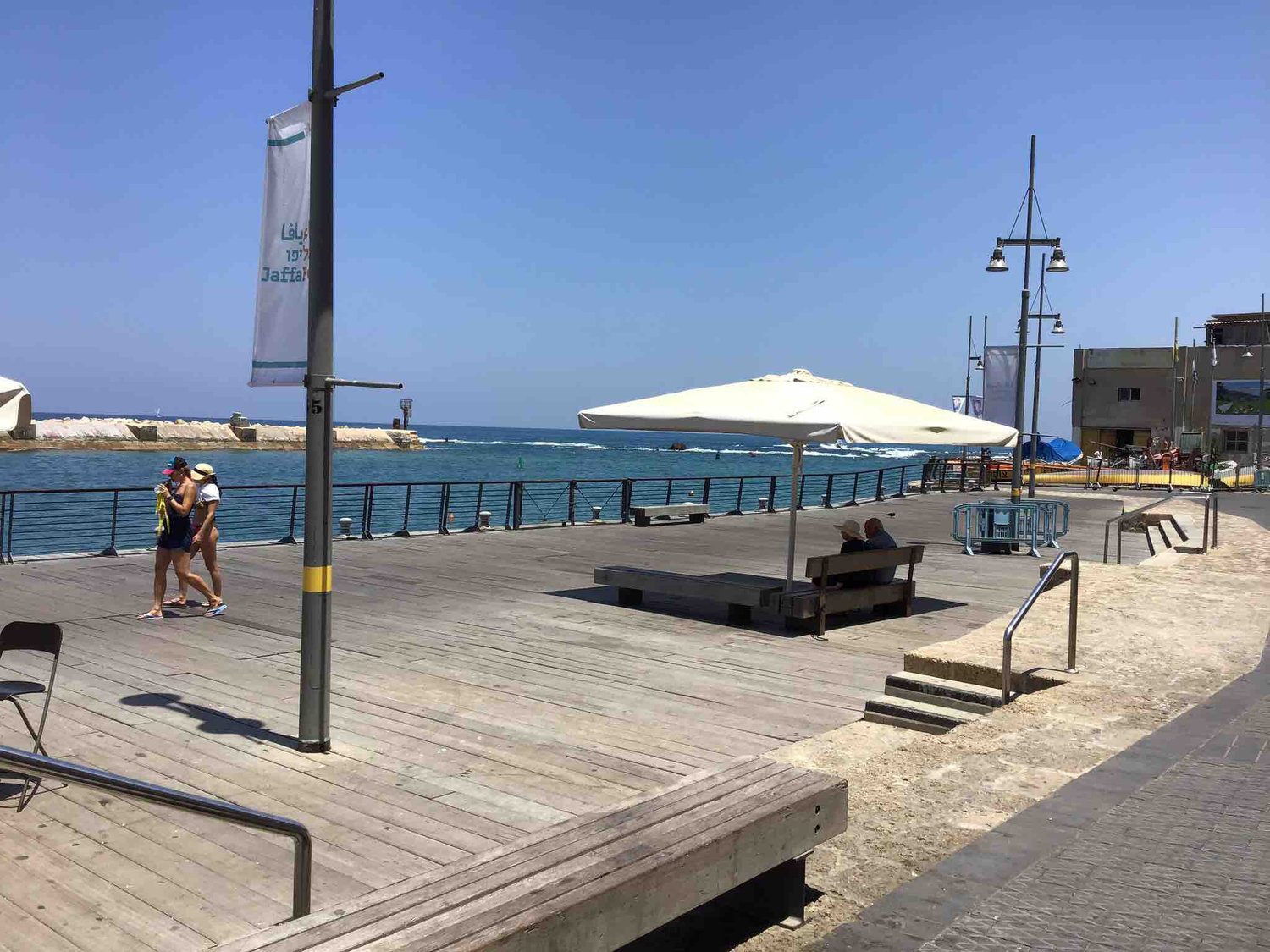 The boardwalk in Jaffa.