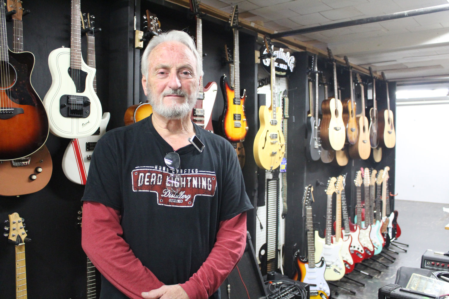 Bill Lang, of BL Custom Guitars, had been at Saturday's Market for over four years.