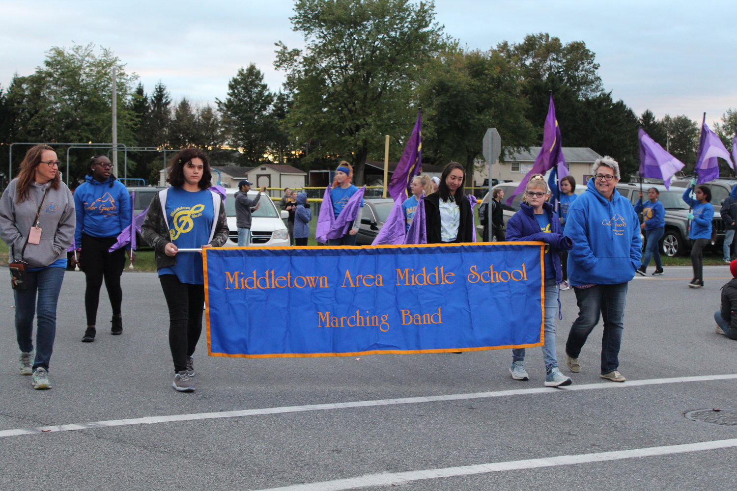 Middletown Area Middle School Band walks in the Lower Swatara Halloween Parade Oct. 17.
