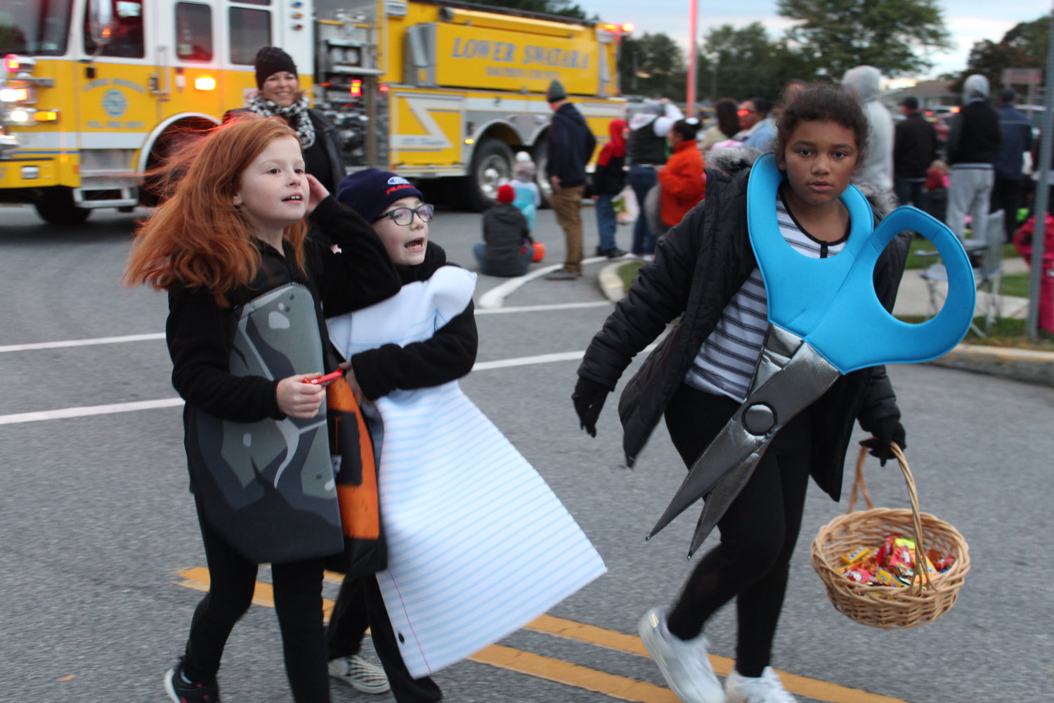 Kids walk in the Lower Swatara Halloween Parade Oct. 17.