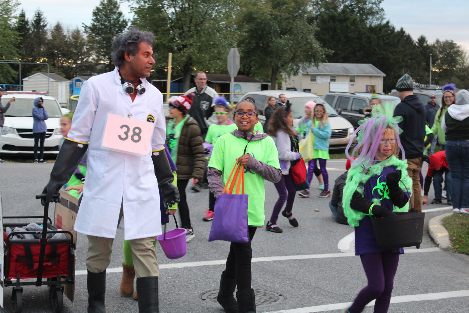 People walk in the Lower Swatara Halloween Parade Oct. 17.