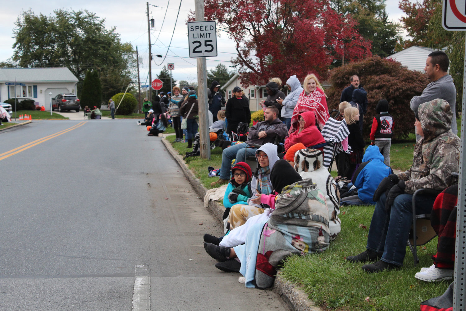 People gather along South Nissley Drive during the Lower Swatara Halloween Parade on Oct. 17.