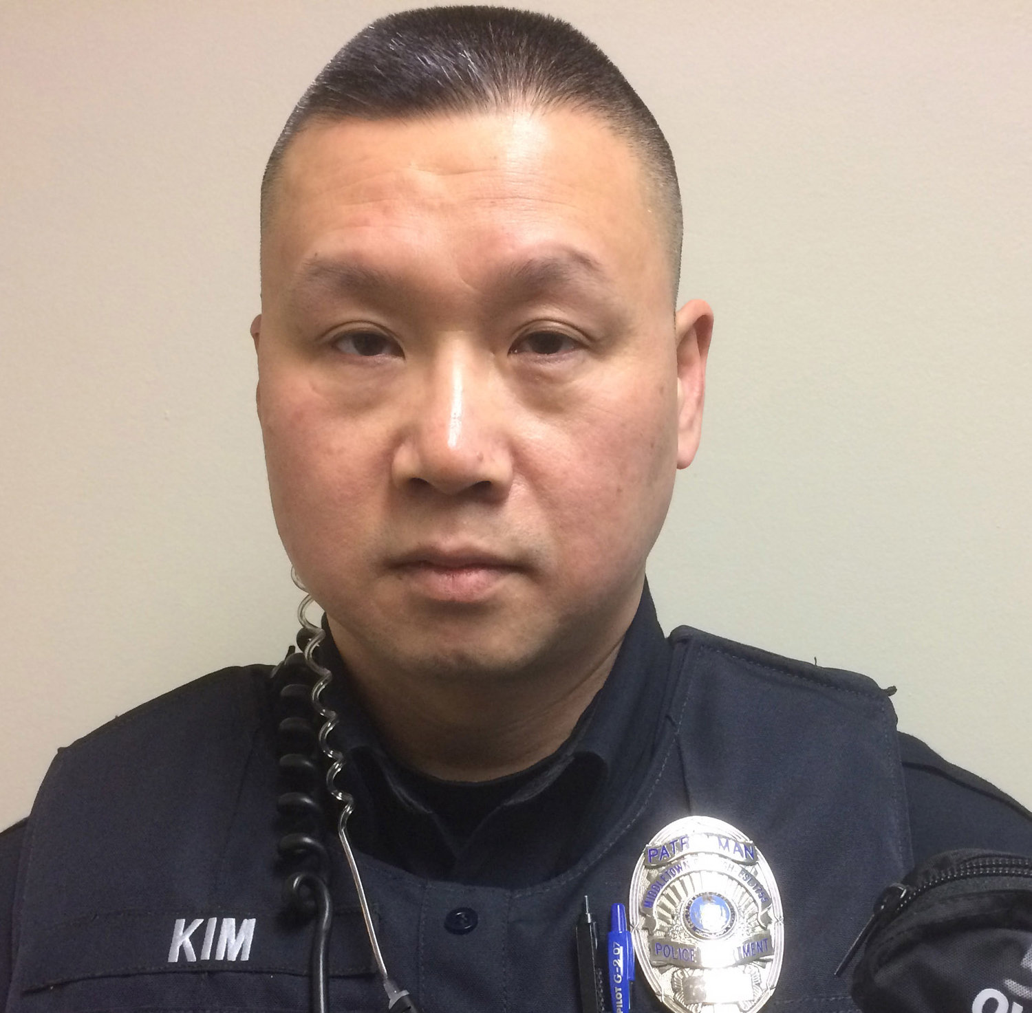 Hyung Kim has been a part-time patrol officer with the Middletown Police Department since June 2016.