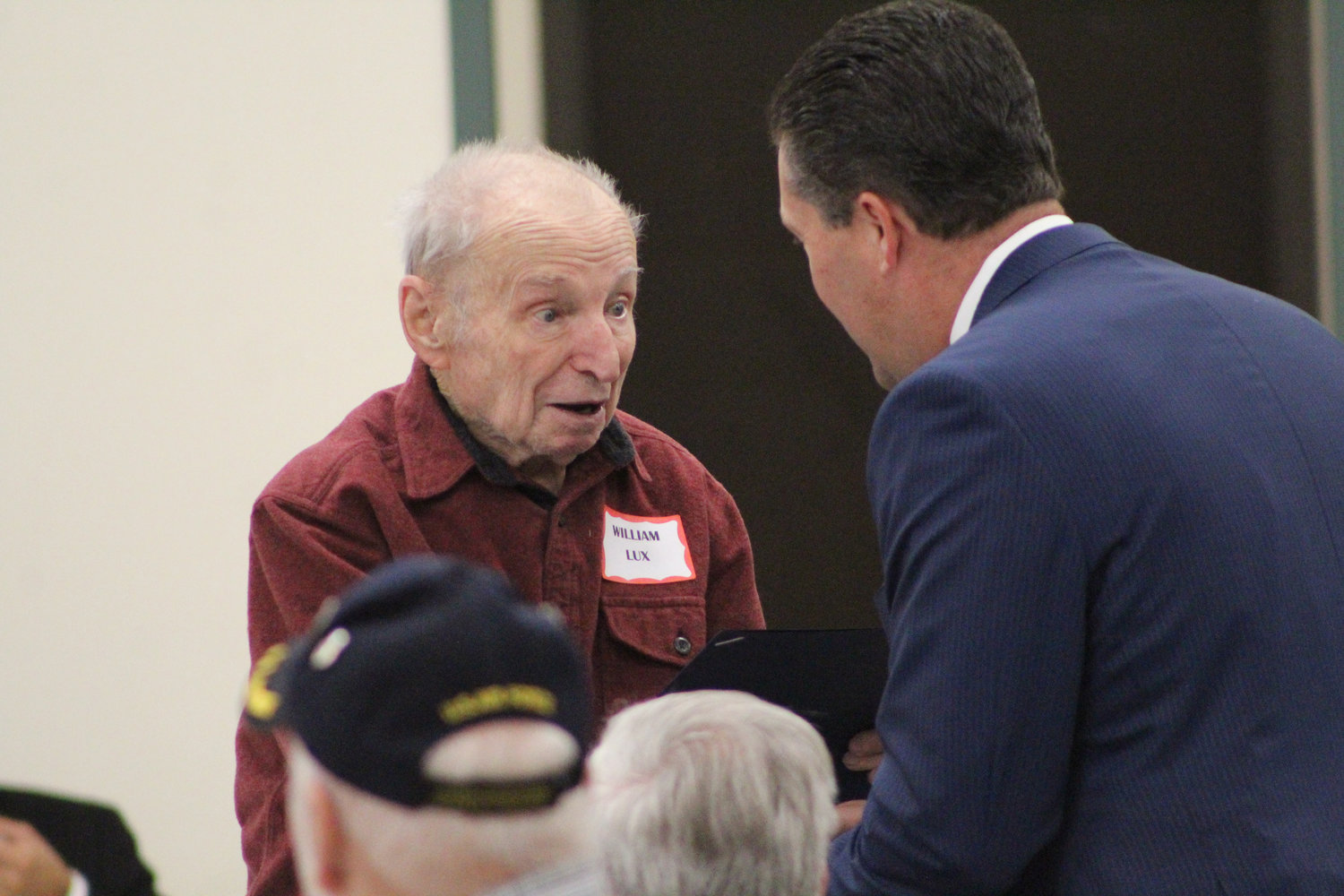 During Rep. Tom Mehaffie's Veterans Breakfast at the Lower Swatara Fire Hall Nov. 8 World War II veterans, including William Lux, were given citations.