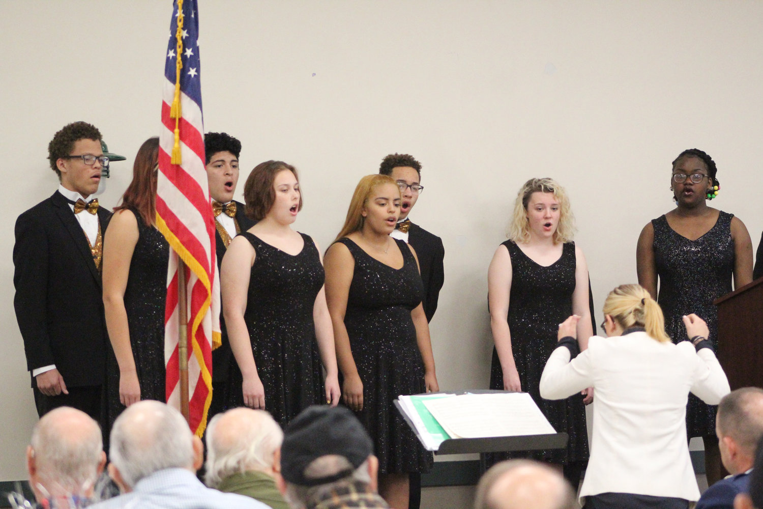 Milton Hershey's New Horizons Choir performs during Rep. Tom Mehaffie's Veterans Breakfast at the Lower Swatara Fire Hall Nov. 8.