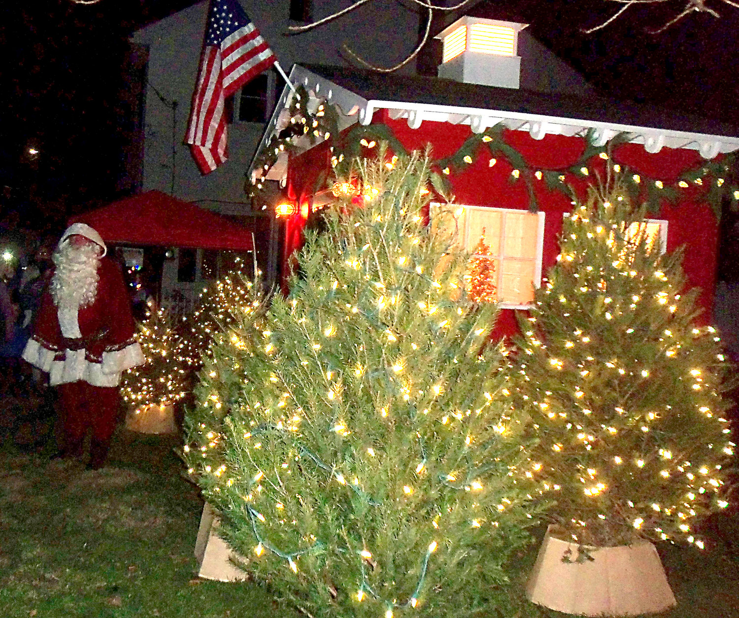 Middletown's new Santa house was officially unveiled at the borough's tree-lighting ceremony on Saturday night, Nov. 30.