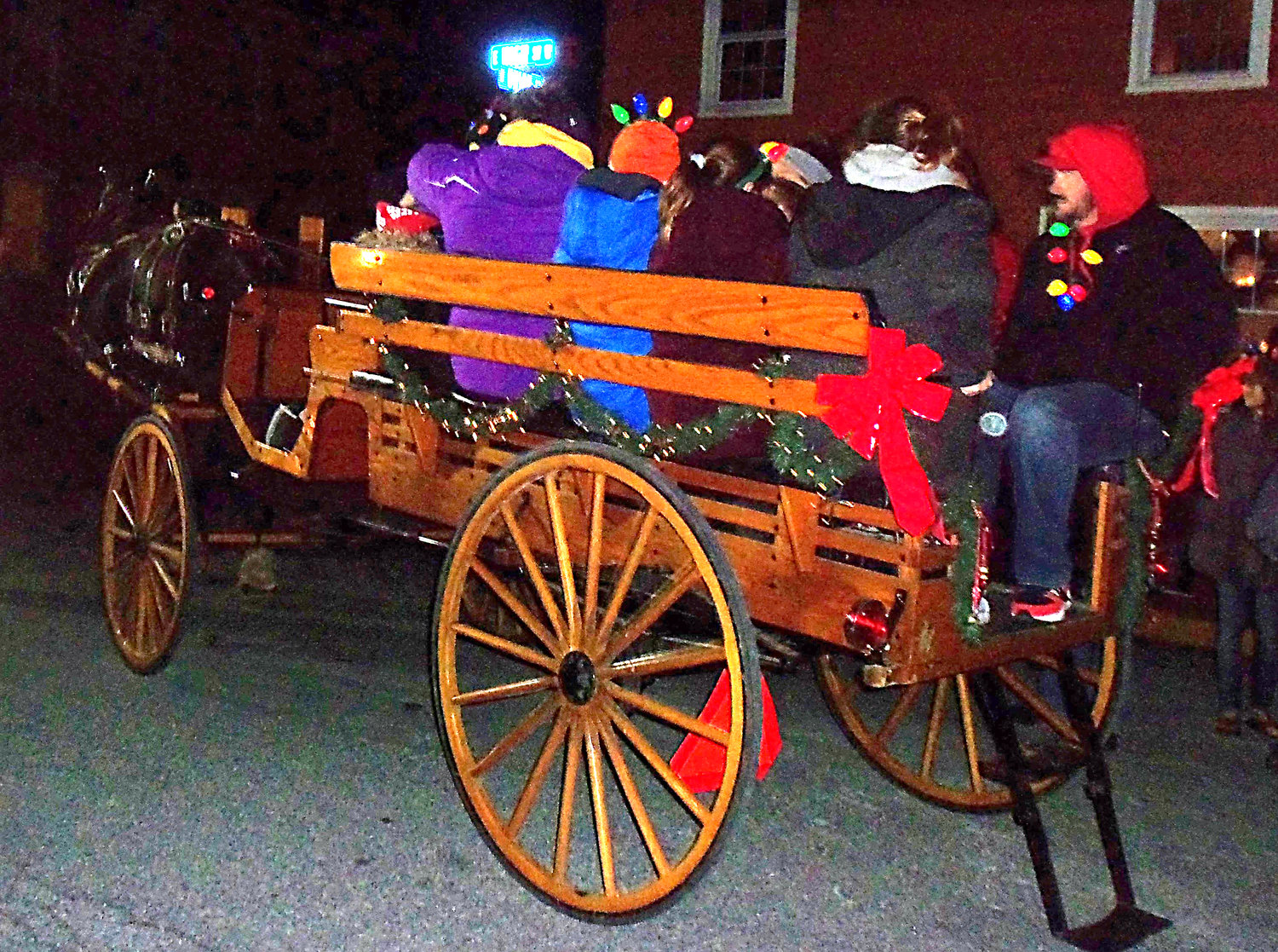 The South Mountain Carriage Co. offered public horse-and-carriage rides at the Middletown borough tree-lighting Saturday, Nov. 30.