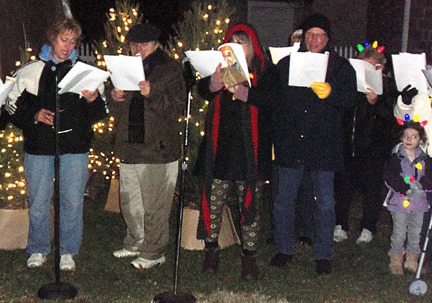 Carolers from New Beginnings Church in Middletown perform during Middletown borough's tree-lighting ceremony on Saturday night, Nov. 30..