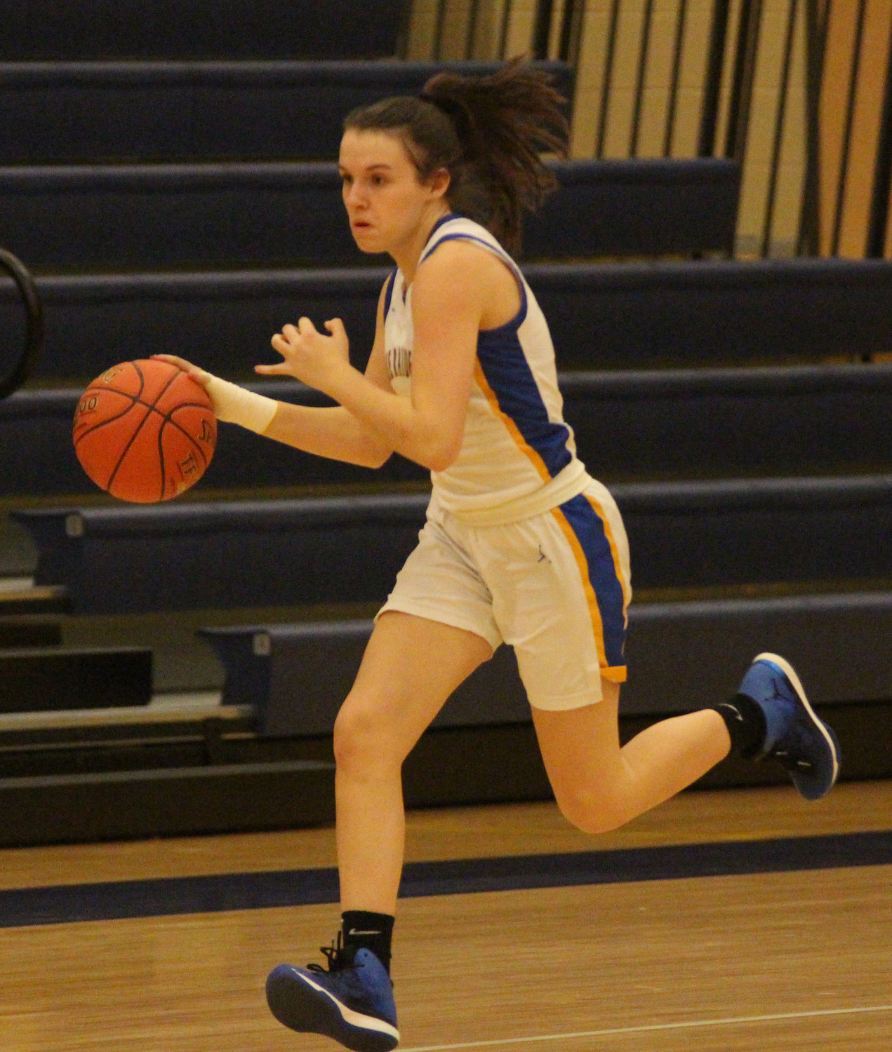 Chloe Cleland comes away with a steal Friday vs. Trinity.