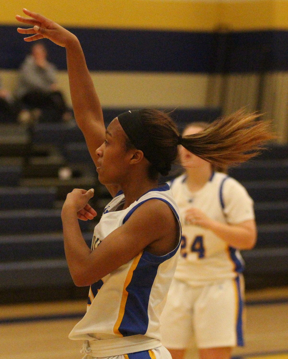 Senior Nakia Scott fires a pass Friday against Trinity.