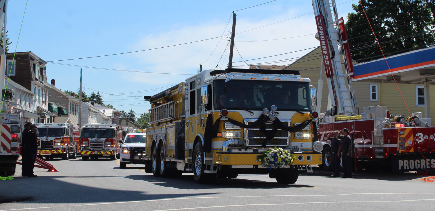 A funeral procession June 16 honors Lower Swatara Fire Department President Michael McKillip, who passed away June 6.