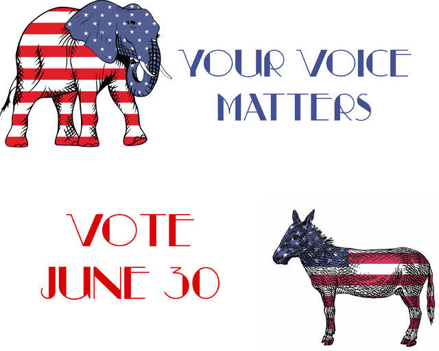 The Republican and Democratic primary elections are scheduled for June 30.