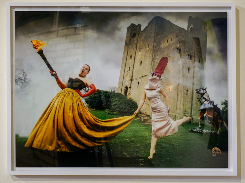 David LaChapelle's 'Burning Down the House' is a portrait of late fashion designer Alexander McQueen that appeared in Vanity Fair in 1997.
