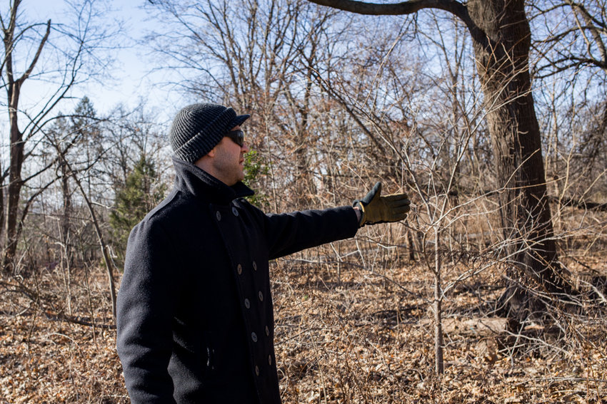 Nick Dembowski, president of the Kingsbridge Historical Society, talks about the skeletons found along the Putnam Trail, believed to have belonged to African-American slaves. Dembowski is in communication with the parks department to devise a way to memorialize the remains of those found.