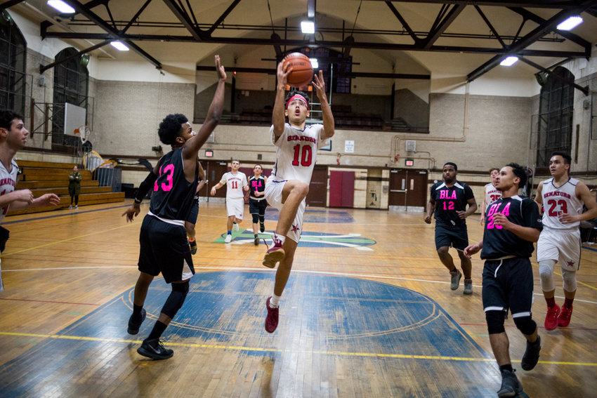 Joaquin Rojas Tineo was a one-man wrecking crew for American Studies last week as he logged 26 points and 15 rebounds in the Senators comeback win over Bronx Leadership.