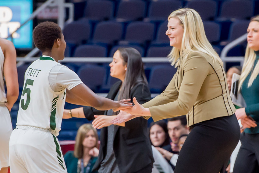 Manhattan College head women's basketball coach Heather Vulin has the Jaspers program on the rise after finishing tied for fourth in the MAAC, a season which included road wins over conference powers Marist and Rider.