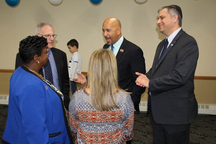 Bronx borough president Ruben Diaz Jr., joined the Hebrew Institute of Riverdale for its annual celebration of Israeli Independence Day on May 9. Diaz thanked those who came out to support the country's 71st anniversary.