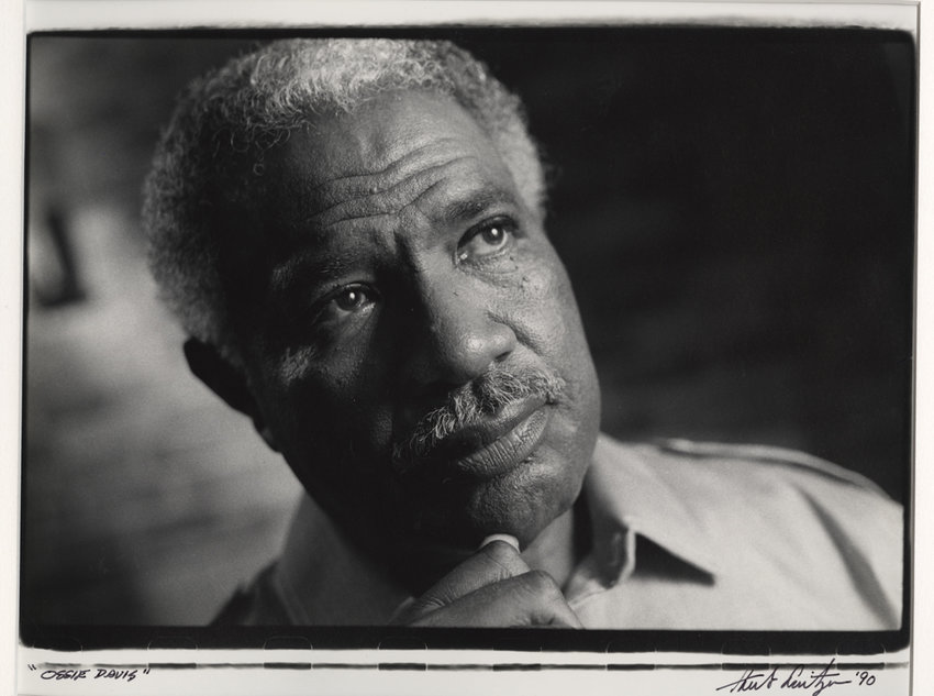 Herb Snitzer photographed actor and civil rights activist Ossie Davis in 1990, now part of an exhibition of his work — 'Can I Get a Witness' — on display through Aug. 18 at the Hudson River Museum.