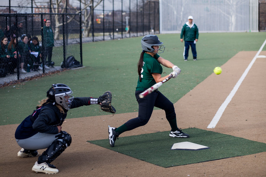 Bronx Science freshman catcher Sam Pokorny had two hits, two RBIs, and threw out three base runners in the Wolverines' playoff win over Port Richmond.