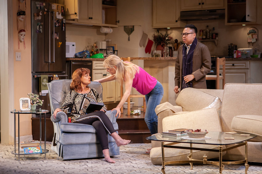 Susan Sarandon, left, stars in 'Happy Talk' with Marin Ireland and Nico Santos, playing at The Pershing Square Signature Center.