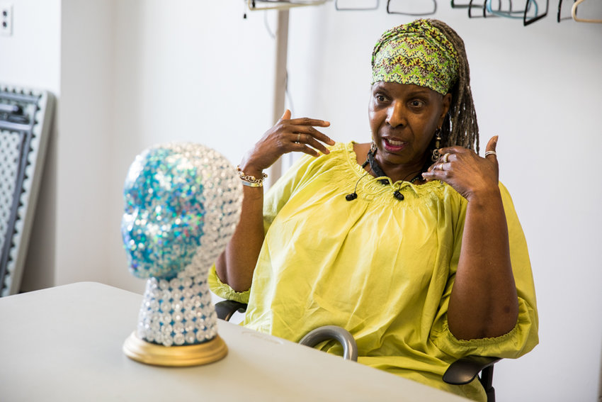 Maurice Williams talks about what inspired her to start decorating Styrofoam heads. Six of Williams' heady creations are on display at RSS-Riverdale Senior Services through June 22.