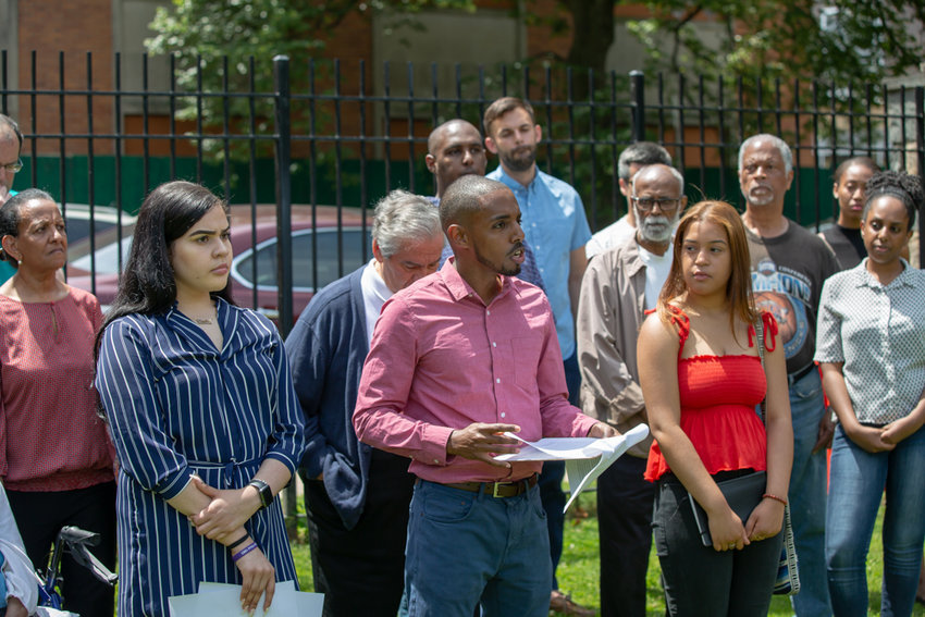 Andom Ghebreghiorgis announces his campaign for the Democratic primary to unseat U.S. Rep. Eliot Engel, who has represented the community in Congress for 30 years.