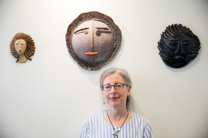 Inspiration comes from many places for Janet Rothholz, who specializes in constructing masks that draw on myriad artistic and cultural traditions. An exhibition of her masks is on display at Buunni Coffee on Riverdale Avenue through July 28.