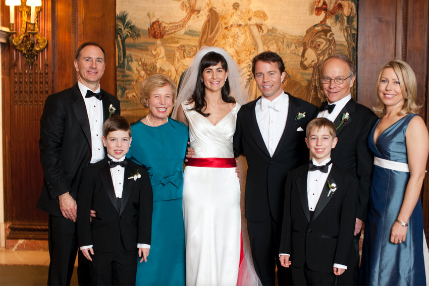 In a photograph from his son's wedding in 2011, David Beim, second from right, smiles with his family. Beim died June 6. He was 79.